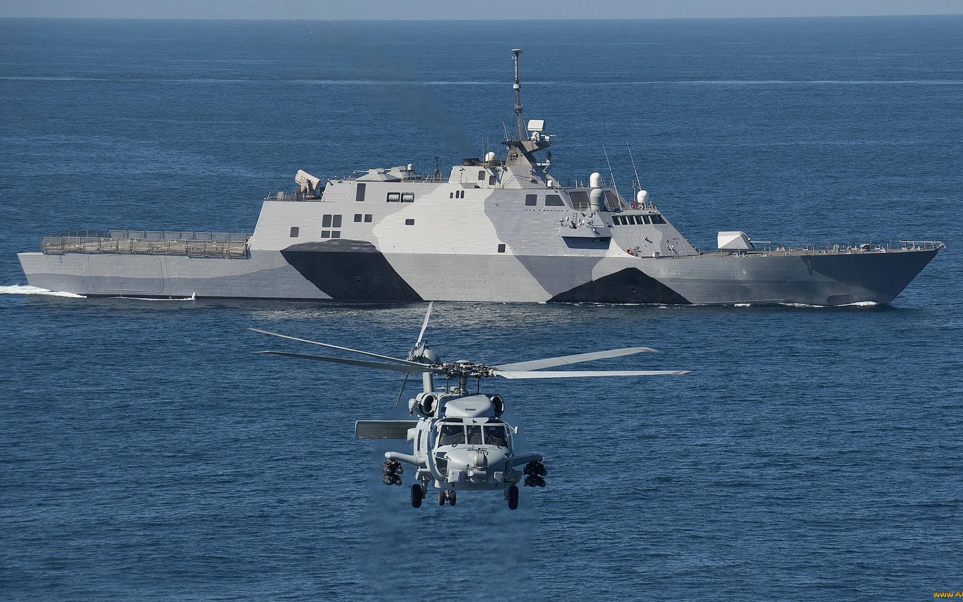 военный корабль, палуба, антенны