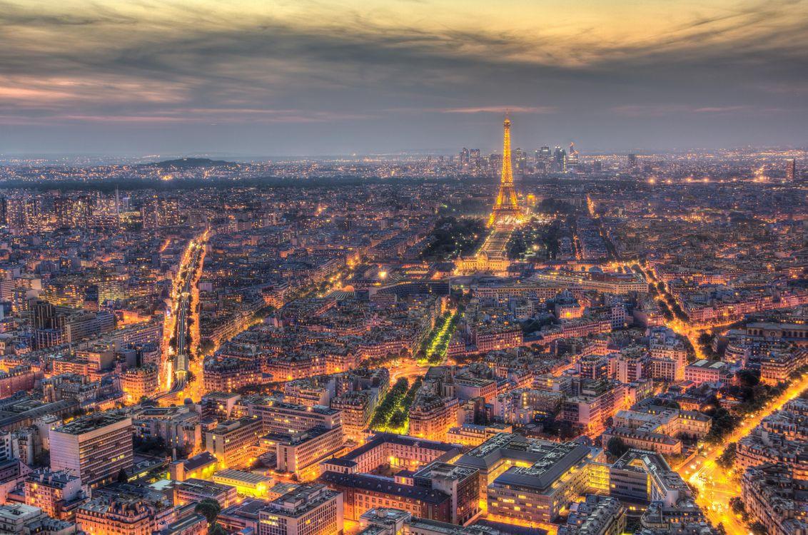 Фото бесплатно Эйфелева башня, Париж, Франция, город - скачать на рабочий стол