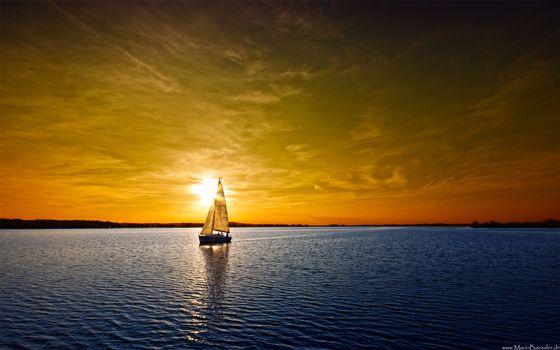 Фото бесплатно море, яхта, парус