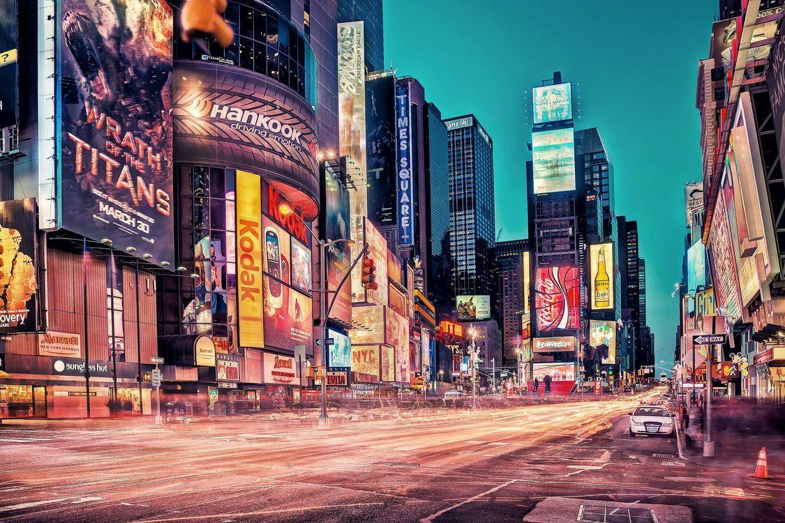Фото бесплатно Нью-Йорк, США, Бродвей, город
