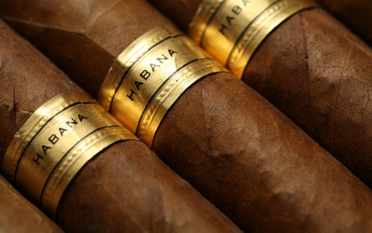 Фото бесплатно сигары, гаваны, надпись, листья табака - на рабочий стол