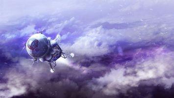 Фото бесплатно космос, спутник, свечение, невесомость, вакуум, галактика, art