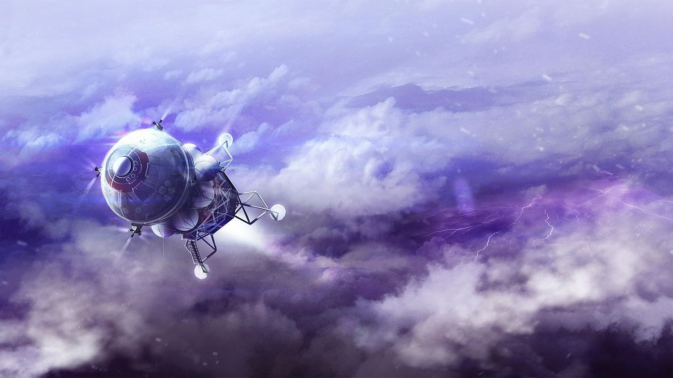 Фото бесплатно спутник, галактика, свечение - на рабочий стол
