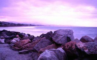 Бесплатные фото берег,камни,валуны,песок,море,горизонт,горы
