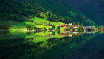 Бесплатные фото дома,горы,лес,речка,природа,зелень