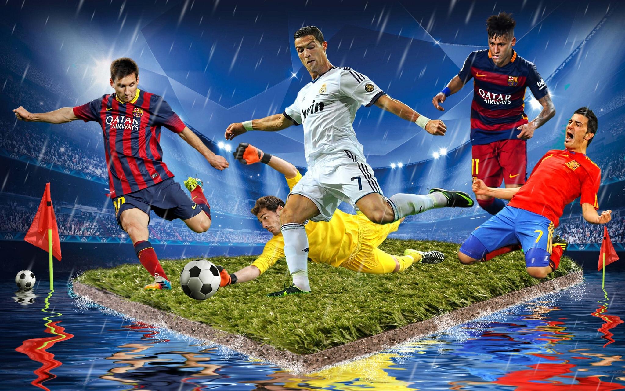 обои футбол, футболисты, островок, стадион картинки фото
