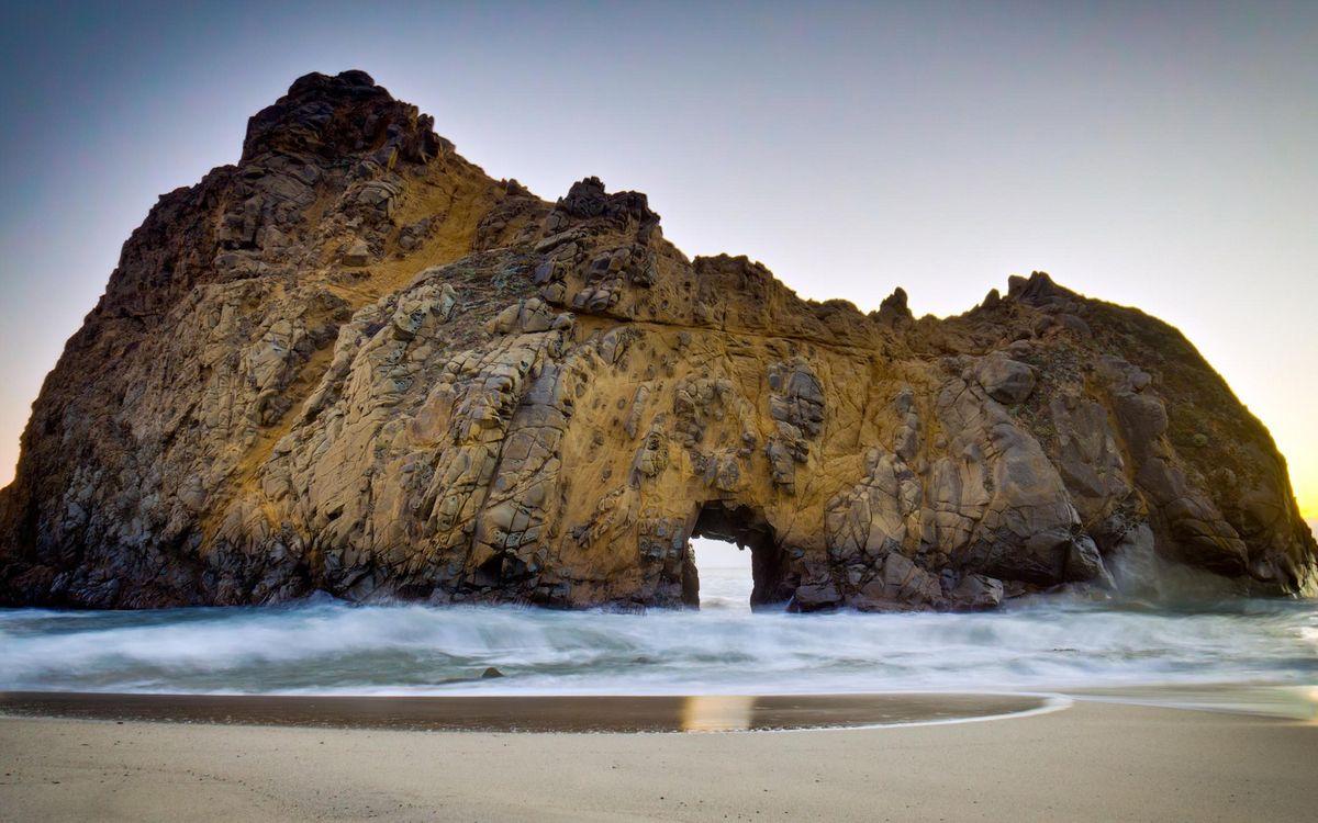 Фото бесплатно песок, берег, скала - на рабочий стол