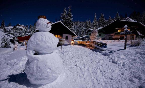 Фото бесплатно снеговик, дача, дома